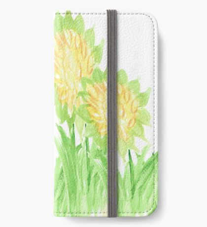 Showy Sunflowers iPhone Wallet