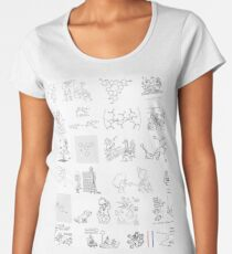 Line art, #novichok, #nerveagent, #Новичок, #химическая #формула, #politics, #chemistry, #deadliest #nerve #agents, #Theresa #May Premium Scoop T-Shirt
