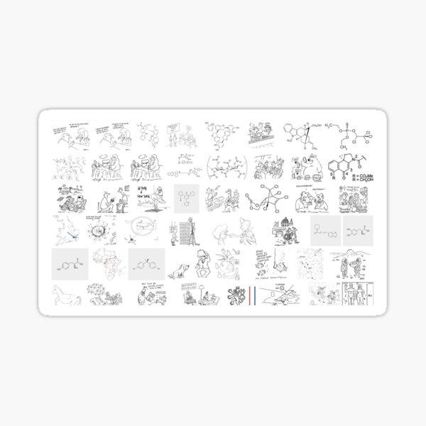 Line art, #novichok, #nerveagent, #Новичок, #химическая #формула, #politics, #chemistry, #deadliest #nerve #agents, #Theresa #May Sticker