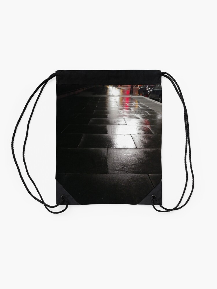 Alternate view of Light, New York, Manhattan, New York City, Skyscraper, tower block, high rise building, tower, block, high rise, building Drawstring Bag