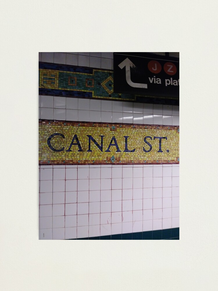 Alternate view of Canal St., Canal Street, Subway Station, Number Photographic Print