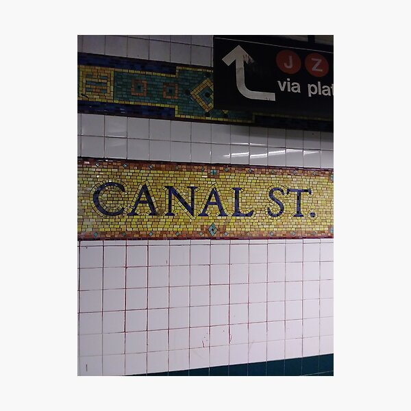 Canal St., Canal Street, Subway Station, Number Photographic Print