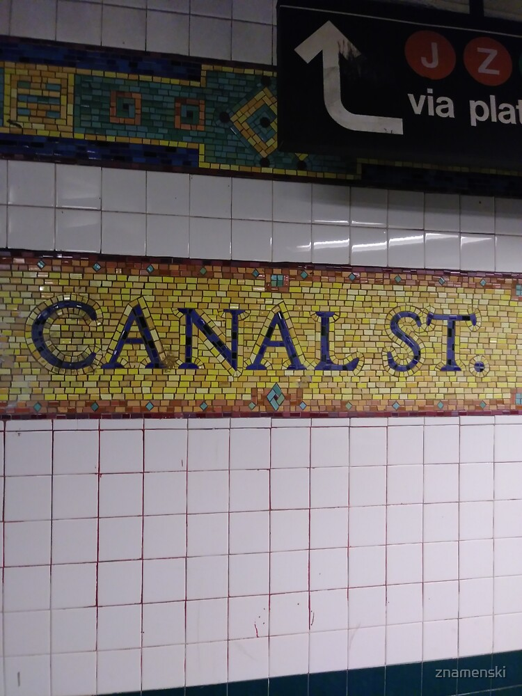 Canal St., Canal Street, Subway Station, Number by znamenski