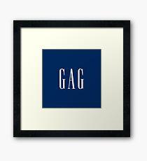 """""""GAG"""" DESIGN Framed Print"""