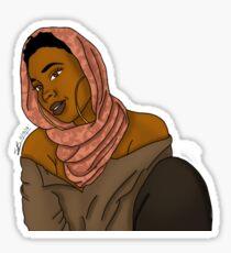 Kopftuch Königin Sticker