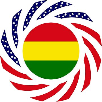 Bolivian American Multinational Patriot Flag Series by carbonfibreme