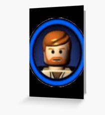 Lego Obi Wan Kenobi icon Greeting Card