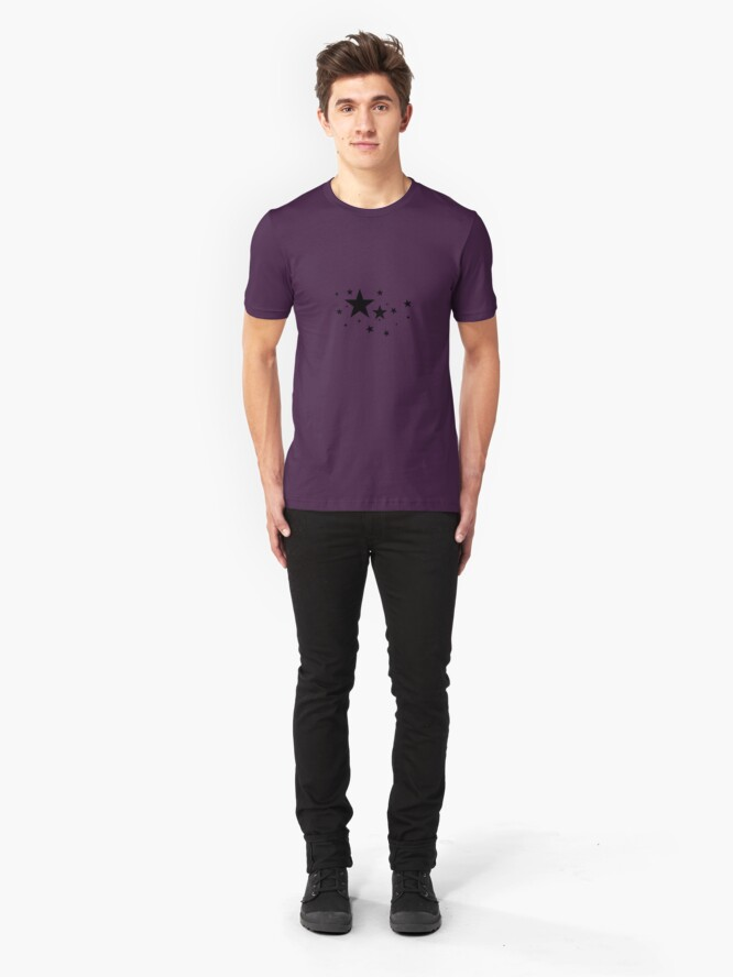 Alternate view of Star Light, Star Bright. Slim Fit T-Shirt