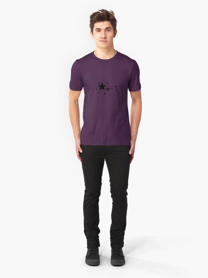 Alternate view of Star Light, Star Bright. Slim Fit T-Shirt