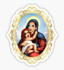 Pegatina Adore Delano y Bianca del Rio como el bebé Jesús y la madre María