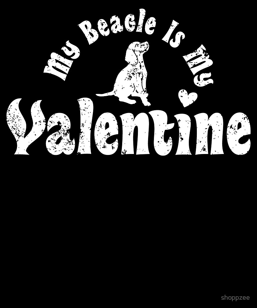 My Anti Valentine Beagle by shoppzee