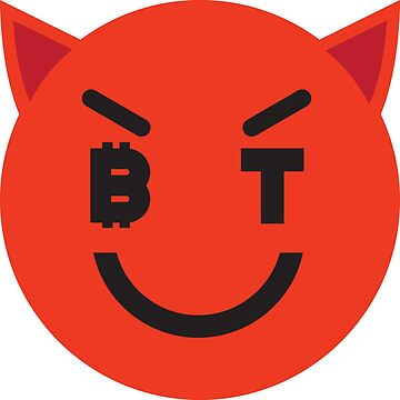 Bitcoin Smiling Devil Smiley by Bitcoin-Smiley