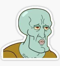 Handsome Squidward Sticker