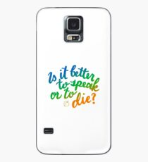 Ist es besser zu sprechen oder zu sterben? Hülle & Klebefolie für Samsung Galaxy