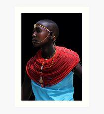 SAMBURU LADY - KENYA  Art Print