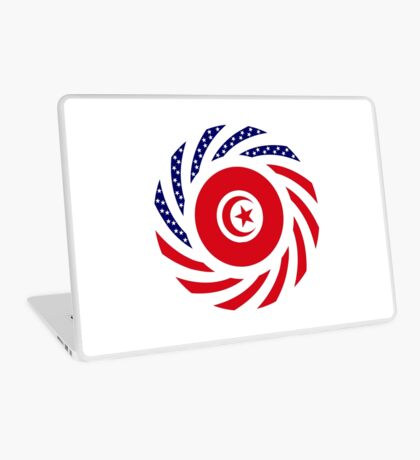 Tunisian American Multinational Patriot Flag Series Laptop Skin