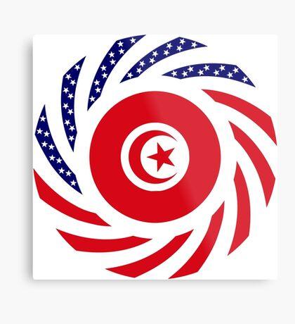 Tunisian American Multinational Patriot Flag Series Metal Print