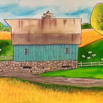 Teal BARN by magichammer