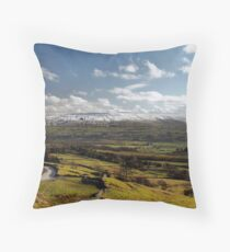Pausing for the view Throw Pillow