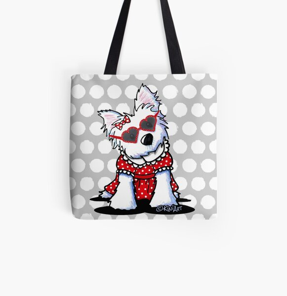 Little Miss Hollywood All Over Print Tote Bag