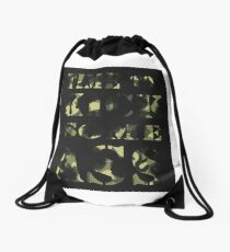 Time to Kick Some Ass - Motivation quote Drawstring Bag