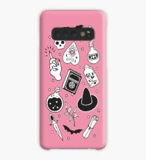 Witchy Essence Pink Case/Skin for Samsung Galaxy