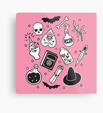 Witchy Essence Pink Metal Print