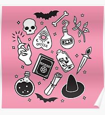 Witchy Essence Pink Poster