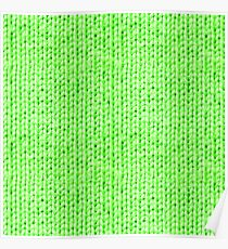 Knitted Wool neon green Poster