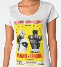 Basquiat Warhol Poster Women's Premium T-Shirt
