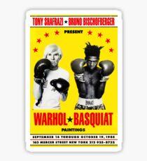 Basquiat Warhol Poster Sticker