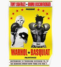 Basquiat Warhol Poster Poster