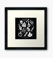 Witchy Essence Black Framed Print