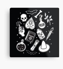 Witchy Essence Black Metal Print