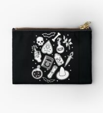 Witchy Essence Black Zipper Pouch