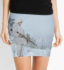 Finnish soldier near Lake Ladoga, Winter War, 1940 Mini Skirt
