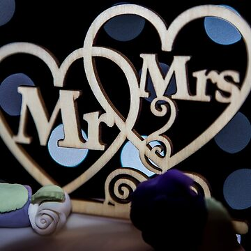 Mr & Mrs Wedding Hearts by Tonywallbank