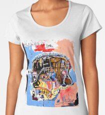 Basquiat skull Poster Women's Premium T-Shirt