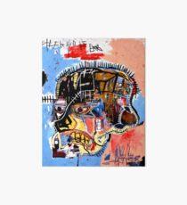 Basquiat skull Poster Art Board