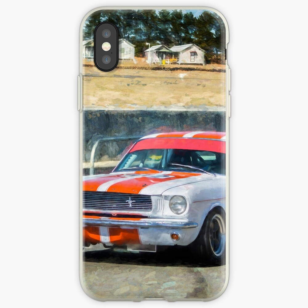 White Group N Mustang iPhone Cases & Covers