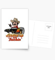 Cargado y Truckin' Postales