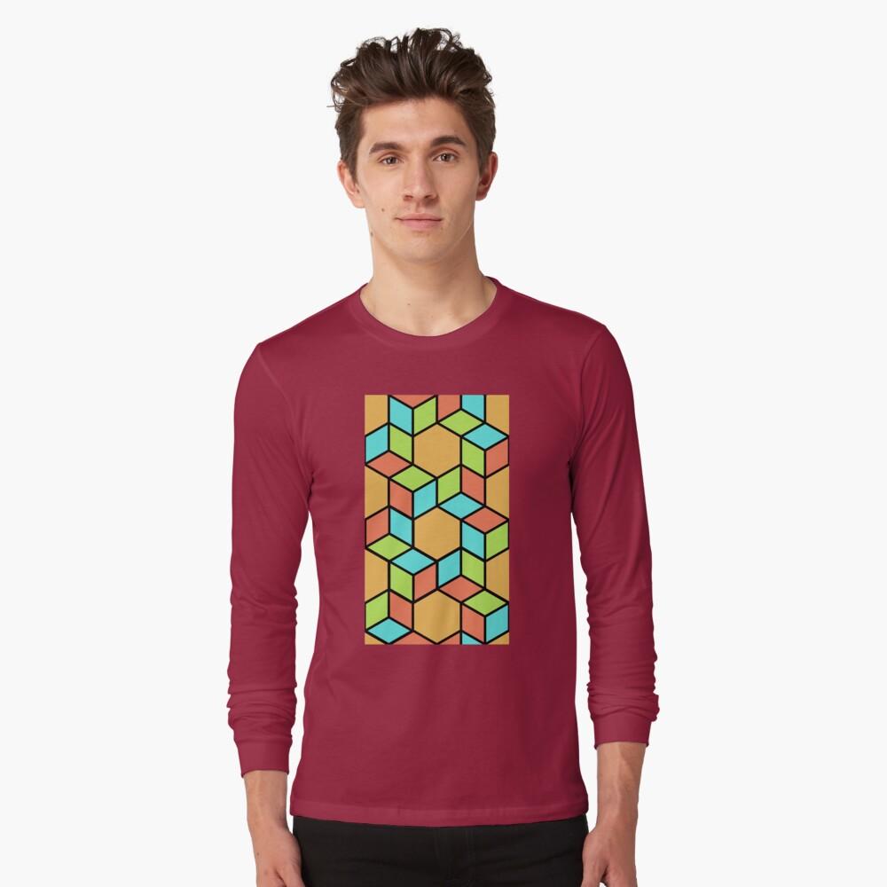 Geometric Pattern: Hexagon Box: Summer Long Sleeve T-Shirt