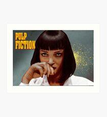 Mia Wallace - Pulp Fiction One Art Print
