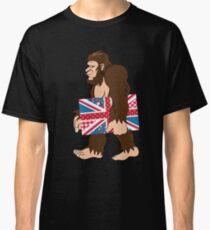 Bigfoot Sasquatch Carrying Union Jack Robust Creative Believes Aparel Humanoid Monster No Yeti Shirt Sweater Hoodie Iphone Case Coffee Mug Gift Classic T-Shirt
