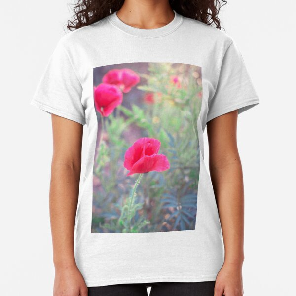 3D Printed T-Shirts Red Poppy Floral Botanical Flower Wild Spring Leaf Short Sleeve Tops Tees