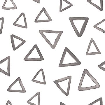 Grey watercolor triangles by nastybo