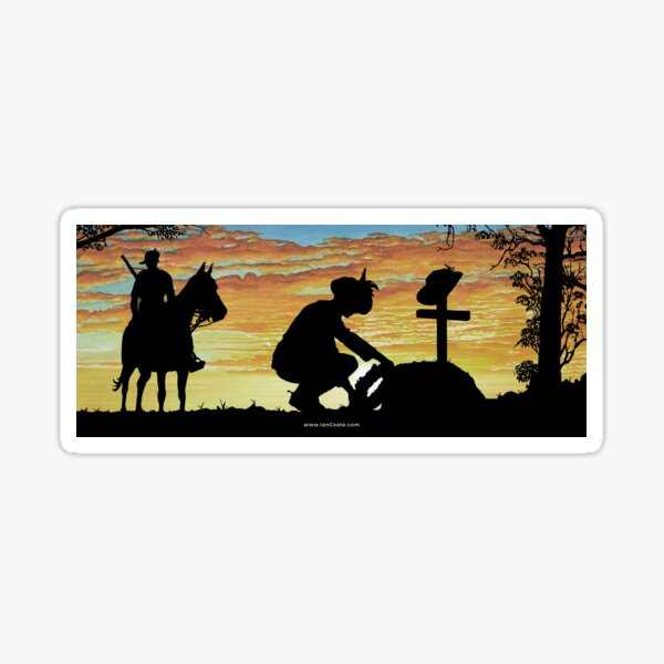 Australian Sunsets - Memorial Sticker