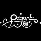 Kleines Pagan Logo mit Mond und Sternen. von Christine Krahl