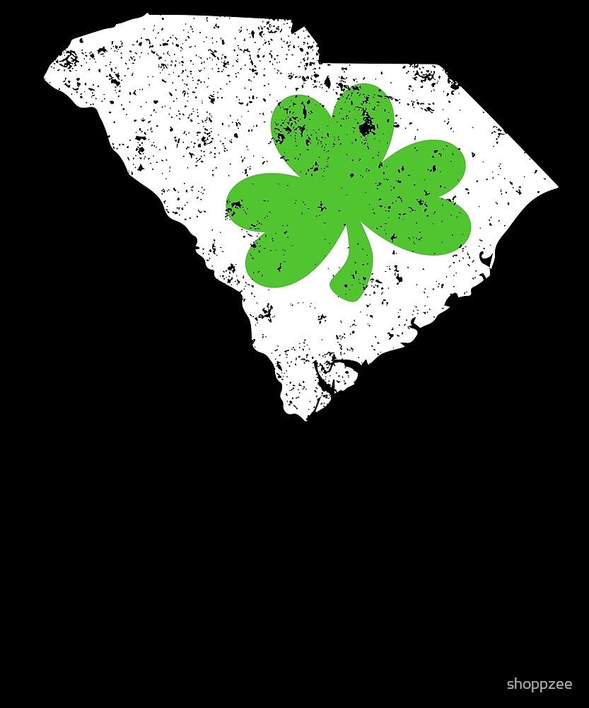 St Patricks Day Shirt South Carolina Shamrock Shirt by shoppzee