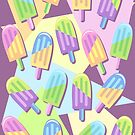 Ice Lollipops Popsicles Summer Punchy Pastels Colors Pattern by BluedarkArt